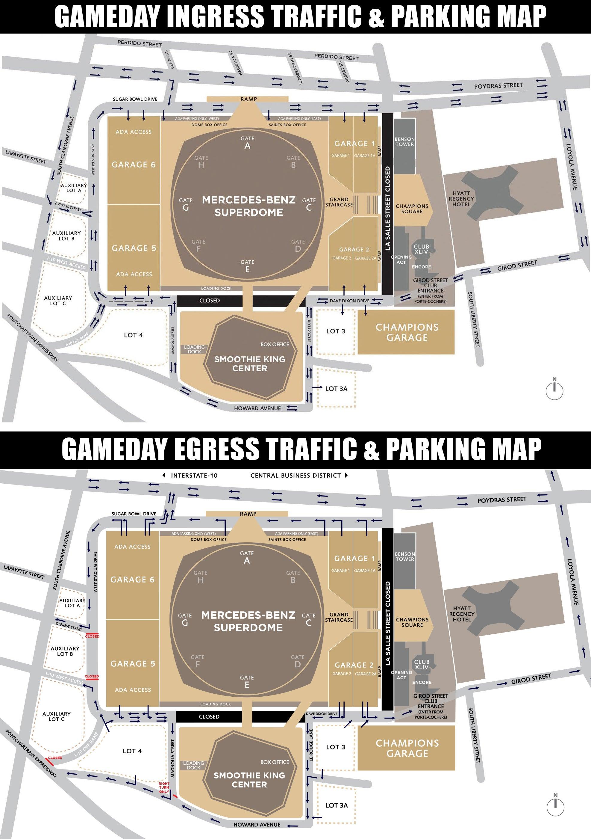 Advocare texas kickoff byu vs lsu mercedes benz superdome for Mercedes benz superdome parking pass
